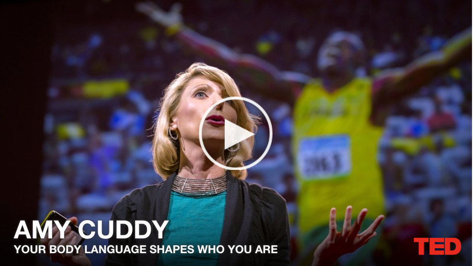 ted talk your body language shapes Here is a list of some of my favorite ted talks that have helped me with my soft  skills: amy cuddy's your body language shapes who you are in her ted talk .
